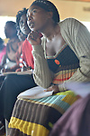 Community Health Workers receiving training and taking an exam at Rhunda Health Center in eastern Rwanda.