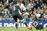 Real Madrid's Cristiano Ronaldo (c) and Sevilla's Adil Rami (l) and Coke during La Liga match. March 20,2016. (ALTERPHOTOS/Acero)