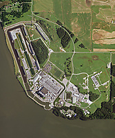aerial photo map of the Browns Ferry Nuclear Plant, Wheeler Lake, Athens, Limestone County, Alabama