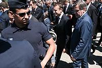 EMMANUEL MACRON - LE PRESIDENT EMMANUEL MACRON VISITE LE 52E SALON AERONAUTIQUE DU BOURGET, LE BOURGET, PARIS, FRANCE, LE 19/06/2017.