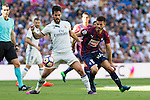 Real Madrid's Isco Alarcon and Eibar's Francisco Rico durign the match of La Liga between Real Madrid and SD Eibar at Santiago Bernabeu Stadium in Madrid. October 02, 2016. (ALTERPHOTOS/Rodrigo Jimenez)