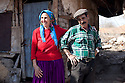Prohorovo, Bulgaria--Petrana Koleva with her husband, Vasil Kolev, are  members of the Kalaidzhi, a subset of the Roma people whose 20,000 are dispersed throughout Bulgaria.