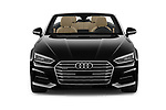 Car photography straight front view of a 2018 Audi A5 Design 2 Door Convertible Front View