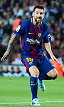 Lionel Andres Messi of FC Barcelona looks during the La Liga match between FC Barcelona vs RCD Espanyol at the Camp Nou on 09 September 2017 in Barcelona, Spain. Photo by Vicens Gimenez / Power Sport Images