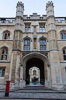 UK, England, Cambridge.  Corpus Christi College, Main Entrance.