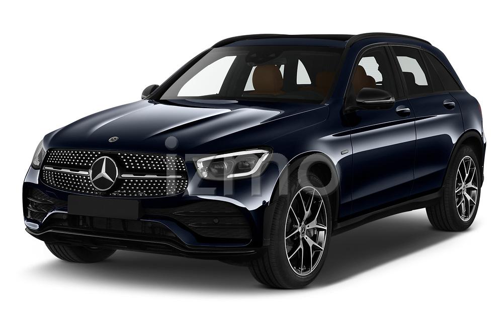 2020 Mercedes Benz GLC AMG-Line 5 Door SUV Angular Front automotive stock photos of front three quarter view