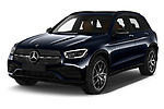 2020 Mercedes Benz GLC AMG-Line 5 Door SUV Angular Front automotive stock photos of front three quarter view