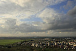 Israel, Sharon region. City of Rosh Ha'ayin as seen from Migdal Afek