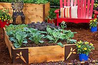 Sakata - raised bed square foot vegetable demonstration garden