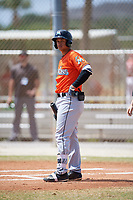 Miami Marlins Joe Dunand (22) during a Minor League Spring Training game against the St. Louis Cardinals on March 26, 2018 at the Roger Dean Stadium Complex in Jupiter, Florida.  (Mike Janes/Four Seam Images)