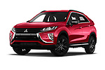 Stock pictures of low aggressive front three quarter view of 2020 Mitsubishi Eclipse-Cross BLACK-Collection+ 5 Door SUV Low Aggressive