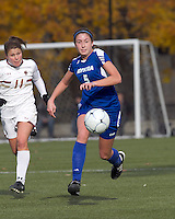 Hofstra University forward Laura Greene (5) chases down a pass. Boston College defeated Hofstra University, 3-1, in second round NCAA tournament match at Newton Soccer Field, Newton, MA.