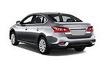 Car pictures of rear three quarter view of 2017 Nissan Sentra SV 4 Door Sedan Angular Rear