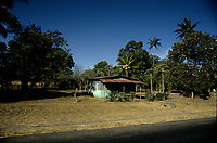 Costa Rica - file Photo -Tamarindo ,small house of the side of the road