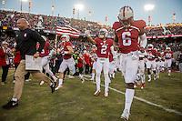 Stanford, Ca - Saturday, November 28, 2015: Stanford 38-36 over Notre Dame at Stanford Stadium.
