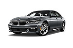 Stock pictures of low aggressive front three quarter view of 2016 BMW 7 Series M Sport 4 Door Sedan Low Aggressive