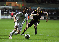 Pictured: Leon Britton of Swansea City in action<br /> Re: Coca Cola Championship, Swansea City Football Club v Queens Park Rangers at the Liberty Stadium, Swansea, south Wales 21st October 2008.