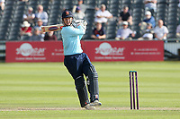 Simon Harmer hits 4 runs for  Essex during Gloucestershire vs Essex Eagles, Royal London One-Day Cup Cricket at the Bristol County Ground on 3rd August 2021
