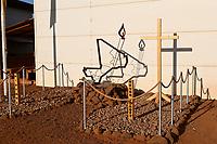 MALI, Gao, Minusma UN peace keeping mission, Camp Castor, german army Bundeswehr, memorial for died soldier / Erinnerung fuer verunglueckte Soldaten beim Absturz des Tiger Hubschrauber am 26. Juli 2017 bei Tabankort (Kreis Bourem, Region Gao)