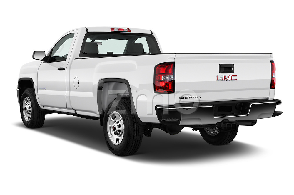 Car pictures of rear three quarter view of 2018 GMC Sierra-2500HD 2WD-Regular-Cab-Long-Box 2 Door Pick-up Angular Rear