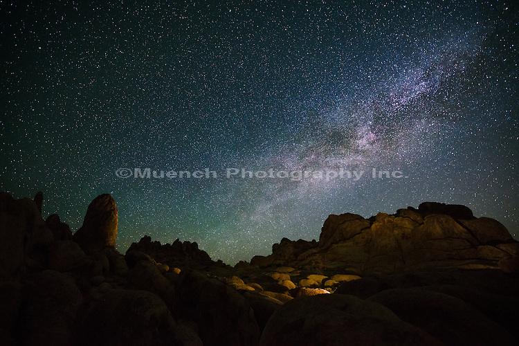 Milky Way over Alabama Hills, Owens Valley, California