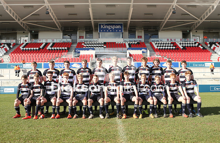 MEDALLION SHILED FINAL | Monday 10th March 2015<br /> <br /> The Wallace HS team vs RBAI during the 2015 Ulster Schools Medallion Shield Final at the Kingspan Stadium, Ravenhill Park, Belfast.<br /> <br /> Picture credit: John Dickson / DICKSONDIGITAL