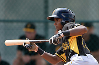 Pittsburgh Pirates shortstop Pablo Reyes (12) during an Instructional League intersquad scrimmage on September 29, 2014 at the Pirate City in Bradenton, Florida.  (Mike Janes/Four Seam Images)