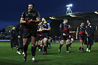 Elliot Dee of Dragons after the final whistle of the European Challenge Cup match between Dragons and Bordeaux Begles at Rodney Parade, Newport, Wales, UK. 20 January 2018