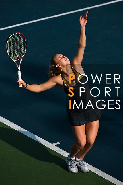 Caroline Wozniacki of Denmark in action during day one of the Hong Kong Tennis Classic 2011 on January 8, 2011 in Hong Kong, China. Photo by Victor Fraile / The Power of Sport Images