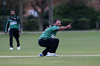 Mohammad Ahktar of Ilford appeals for a wicket during Upminster CC (batting) vs Ilford CC, Hamro Foundation Essex League Cricket at Upminster Park on 8th May 2021