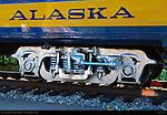 Denali Star Railcar, Trucks and Logo, Alaska Railroad, Alaska