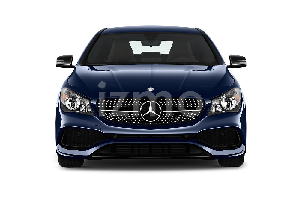 Car photography straight front view of a 2017 Mercedes Benz CLA CLA 4 Door Sedan Front View