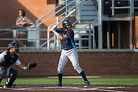Wander Franco (12) of the Wilmington Blue Rocks at bat against the Buies Creek Astros at Jim Perry Stadium on April 29, 2017 in Buies Creek, North Carolina.  The Astros defeated the Blue Rocks 3-0.  (Brian Westerholt/Four Seam Images)