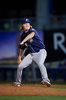 San Antonio Missions relief pitcher Trey Wingenter (16) delivers a pitch during a game against the Tulsa Drillers on June 1, 2017 at ONEOK Field in Tulsa, Oklahoma.  Tulsa defeated San Antonio 5-4 in eleven innings.  (Mike Janes/Four Seam Images)