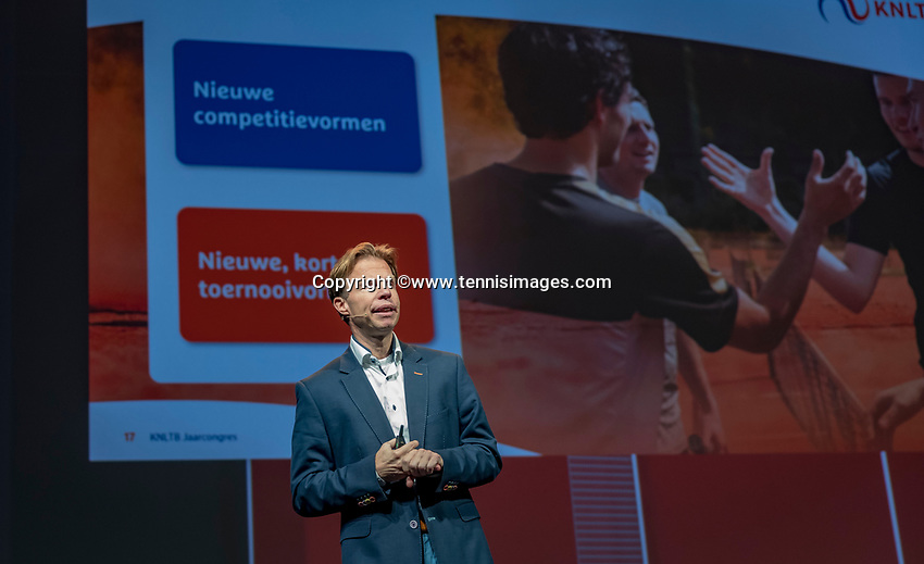 Nieuwegein, Netherlands, November 23,  2019, MBC Congrescentrum, KNLTB Year Congres , KNLTB Director Erik Poel<br /> Photo: Tennisimages/Henk Koster