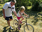 Practicing Bike Riding on the Island of Kökar, Åland, Finland