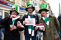 Pictured: Ireland Fans during the Guinness six nations match between Wales and Ireland at the Principality Stadium, Cardiff, Wales, UK.<br /> Saturday 16 March 2019
