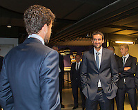 September 10, 2014,Netherlands, Amsterdam, Ziggo Dome, Davis Cup Netherlands-Croatia, Haase meets Cilic (R)<br /> Photo: Tennisimages/Henk Koster