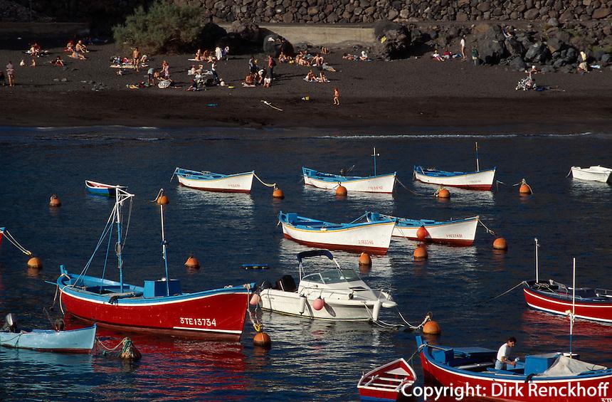Spanien, Kanarische Inseln, Gomera, Hafen von Vueltas, Strand