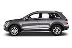 Car Driver side profile view of a 2015 Volkswagen Touareg Bluemotion 5 Door SUV Side View