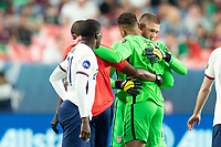 DENVER, CO - JUNE 6: Ethan Horvath #12 Zack Steffen #1 of the United States during a game between Mexico and USMNT at Mile High on June 6, 2021 in Denver, Colorado.