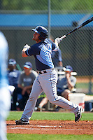 Tampa Bay Rays Nick Ciuffo (14) during a minor league Spring Training intrasquad game on April 1, 2016 at Charlotte Sports Park in Port Charlotte, Florida.  (Mike Janes/Four Seam Images)
