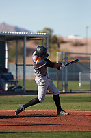Channing Vernon (3) of Lamar Consolidated High School in Fort Worth, Texas during the Baseball Factory All-America Pre-Season Tournament, powered by Under Armour, on January 14, 2018 at Sloan Park Complex in Mesa, Arizona.  (Freek Bouw/Four Seam Images)