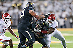 Baylor Bears running back Shock Linwood (32) in action during the game between the Oklahoma Sooners and the Baylor Bears at the McLane Stadium in Waco, Texas. OU defeats Baylor 44 to 34.