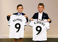 Pictured: Thursday 06 July 2017<br /> Re: Swansea City FC Academy U9 signings at the Liberty Stadium, Wales, UK