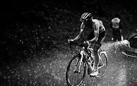 Kévin Ledanois (FRA/Arkéa - Samsic) caught in a torrential rainstorm that hits Stage 7: from Saint-Genix-les-Villages to Pipay  (133km)<br /> 71st Critérium du Dauphiné 2019 (2.UWT)<br /> <br /> ©kramon