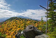 Autumn foliage from Chapel Rock on Pine Mountain in Gorham, New Hampshire during the autumn months.