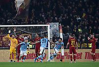 Football, Serie A: AS Roma - S.S. Lazio, Olympic stadium, Rome, January 26, 2020. <br /> Lazio's Francesco Acerbi (c) celebrates after scoring during the Italian Serie A football match between Roma and Lazio at Olympic stadium in Rome, on January,  26, 2020. <br /> UPDATE IMAGES PRESS/Isabella Bonotto