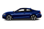 Car Driver side profile view of a 2021 Audi A5-Coupe S-Line 2 Door Coupe Side View