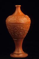Europe/France/Auvergne/12/Aveyron/Millau: Le musée - Poteries Gallo-romaines de La Graufesenque - Détail d'un vase